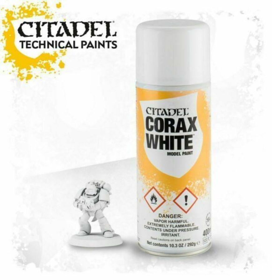 Znalezione obrazy dla zapytania Games WorkShop - Corax White Spray  62-01-80