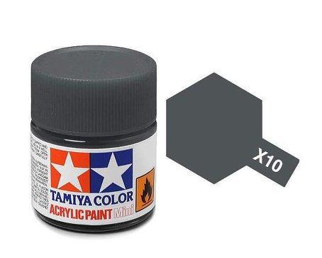 Farba Akrylowa X 10 Gun Metal Gloss 10ml Tamiya 81510 Sklep