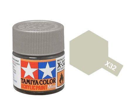 Farba Akrylowa X 32 Titanium Silver Gloss 10ml Tamiya 81532